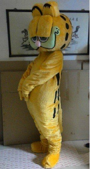 Barato Animal Do Gato Garfield Mascot Costume Fancy Dress Tamanho Adulto