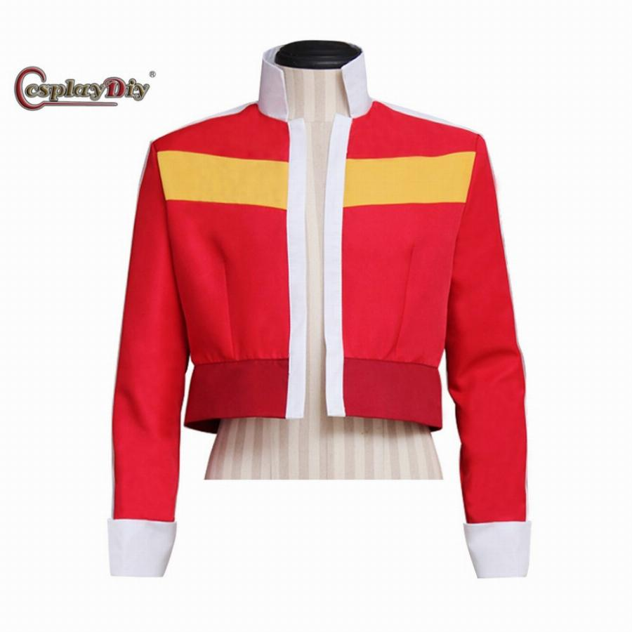 Cosplaydiy Custom Made Jaqueta Top Coat Lendário Defensor Keith Vermelho Adulto Cosplay Halloween Carnival Costume J5