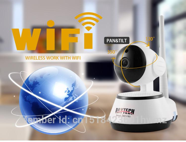 Daytech Wifi Ip Câmera Night Vision Motion Detectar Monitor De P2P Wifi Rede Cctv Home Security Camera Cam Dt-C8815 Remoto Móvel