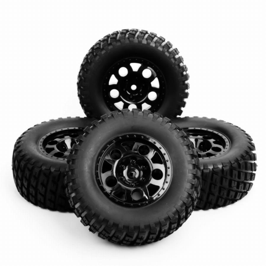 Escala 1/10 Rc Minicurso Truck Tire & Wheel Para Traxxas Slash Modelo De Carro 4 Pc Set Acessório