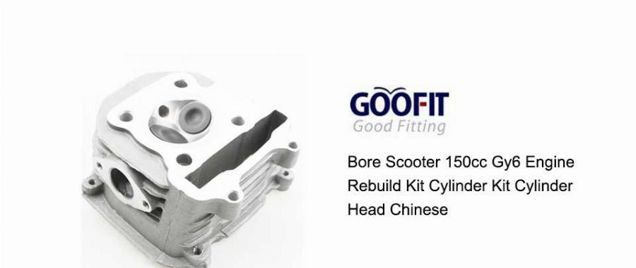 Goofit 57.4Mm Bore Scooter 150Cc Gy6 Motor Reconstruir Kit Kit Cilindro Cabeça Do Cilindro Chinês Group-4