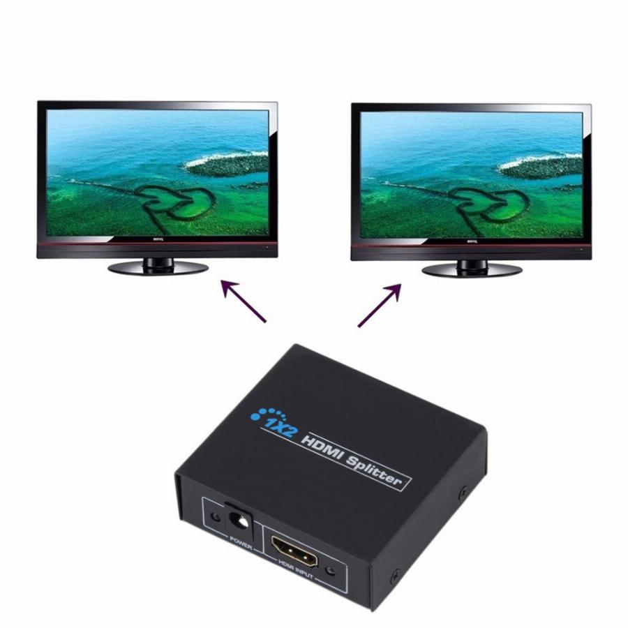 Hdcp Hdmi Splitter Full Hd 1080 P Vídeo Hdmi Switch Switcher 1X2 Divisão 1 Em 2 Amplificador Dual Display Para Hdtv Dvd Ps3 Xbox