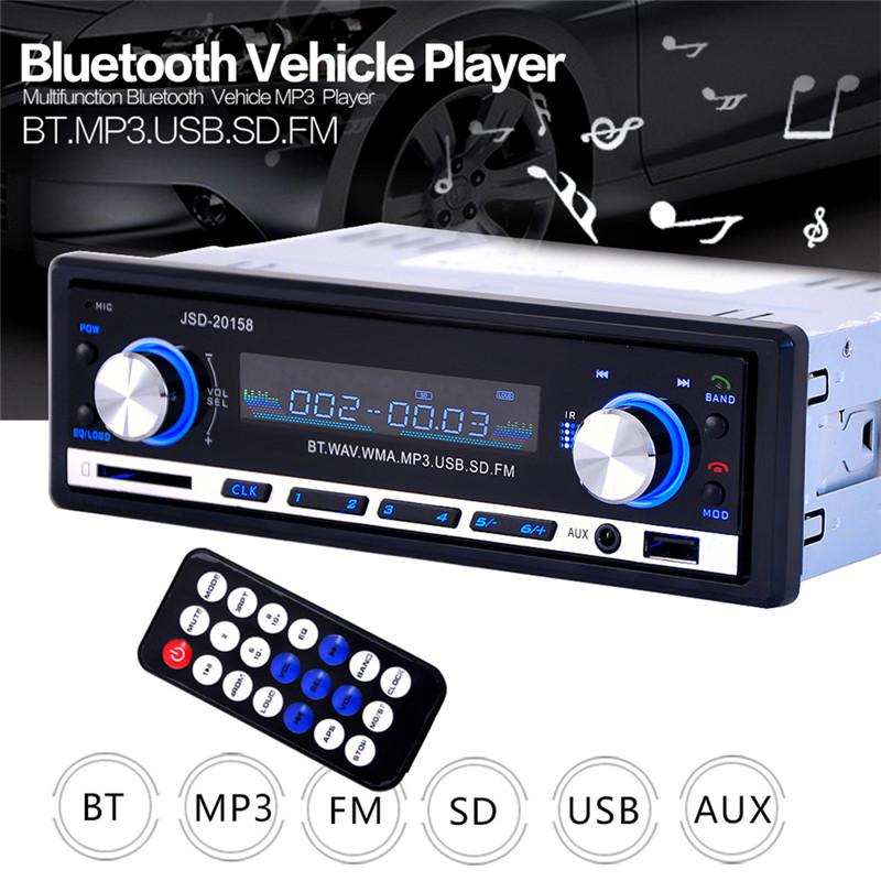 Jsd20158 Carro Mp3 Player Do Carro Fm Carro De Áudio Estéreo De Rádio De Vídeo Do Carro Suporte Ao Jogador Do Bluetooth Telefone Mmobile Com Usb/sd/mmc Porto
