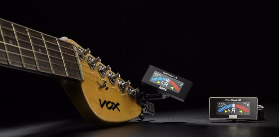 Korg Pitchhawk Clip On Guitar Tuner Com Lcd A Cores