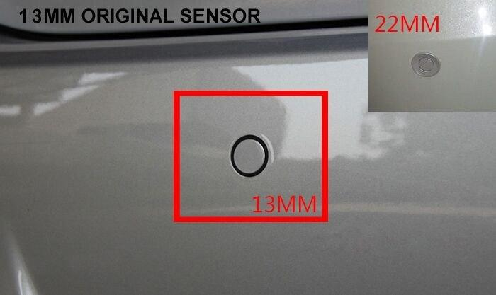 Carro Sensor De Estacionamento Assistente Com O Original Plana 4 Sensores De 13Mm Com Led Monitor Do Carro Invertendo Radar Backup Do Sistema De Estacionamento