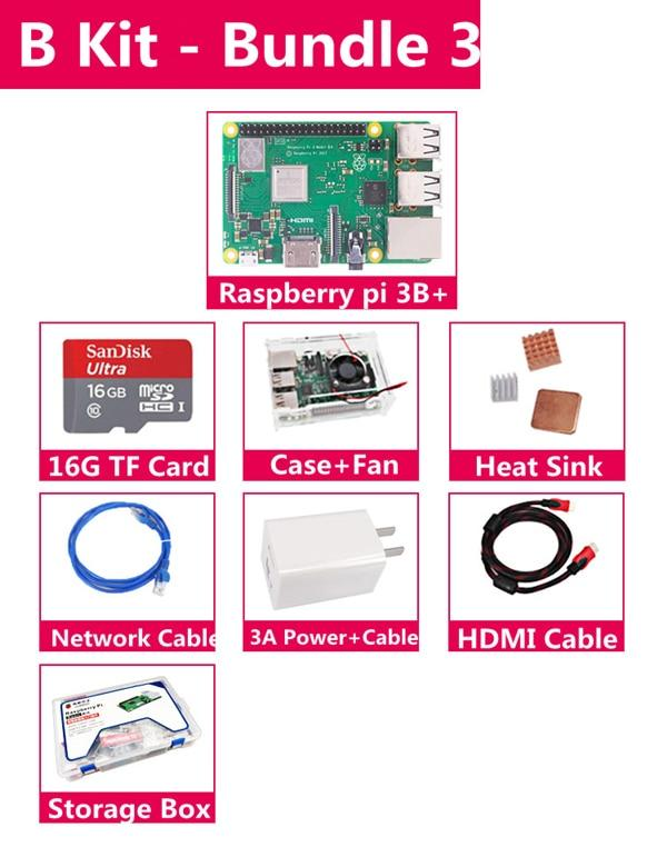 Original Oficial 3 Raspberry Pi Modelo B + Plus Pi 3B + Placa De Demonstração De Programação Python Linux Mini Pc