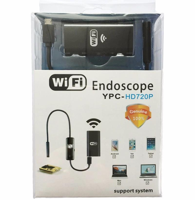 Zjuxin Wifi Endoscópio Endoscópio 8Mm Lens 1 M 2 M 3.5 M 5 M Cabo Iphone Câmera Endoscópio Ios Android Com 6 Led Mini Wifi Endoscópio