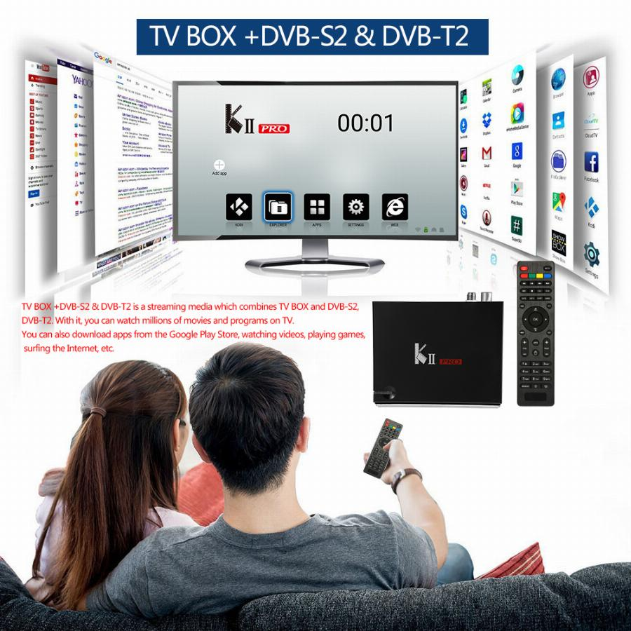 S905 Kii Pro Caixa De Tv Android Dvb-S2 Dvb-T2 Amlogic Quad-Core 2 Gb 16 Gb 4 K H.265 Xbmc Wifi Lan Dlna Airplay Media Player Vb83