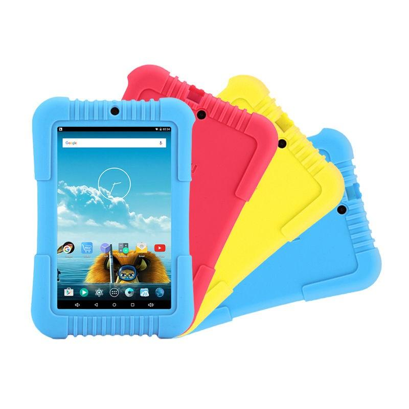 """Hot Y3 Irulu 7 """"a33 Babypad 1280*800 Ips Quad Core Android 5.1 Tablet Pc Gms 1G 16G Silicone Case Presente Para Crianças Doce Cor"""