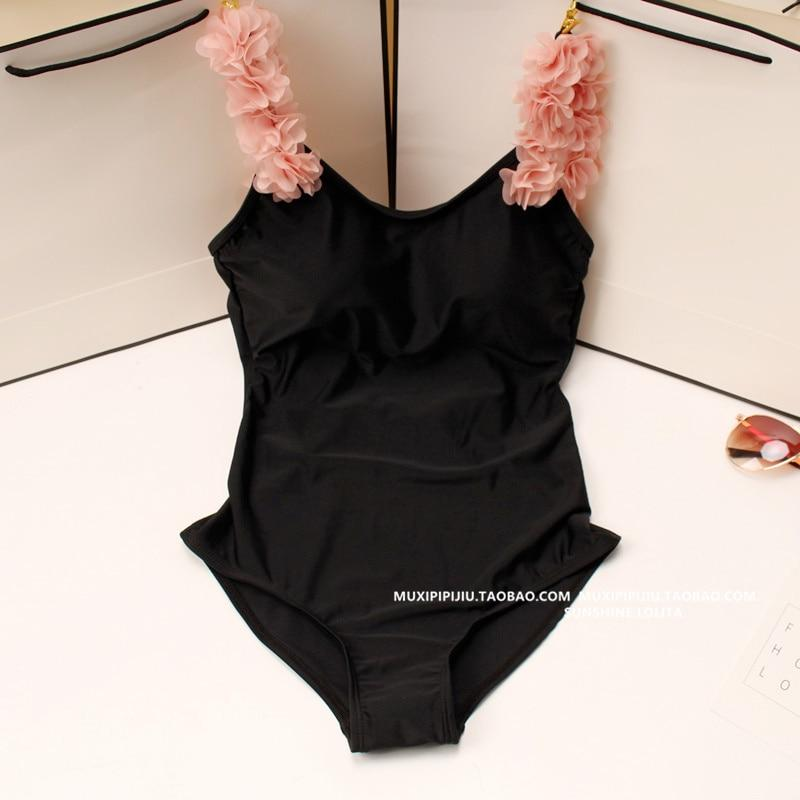 Mulheres Sexy One Piece Swimsuit 3D Rosa Floral Swimwear Bodysuit Sem Encosto Flor Swimsuit Mulheres Cut Out Monokini Maillot