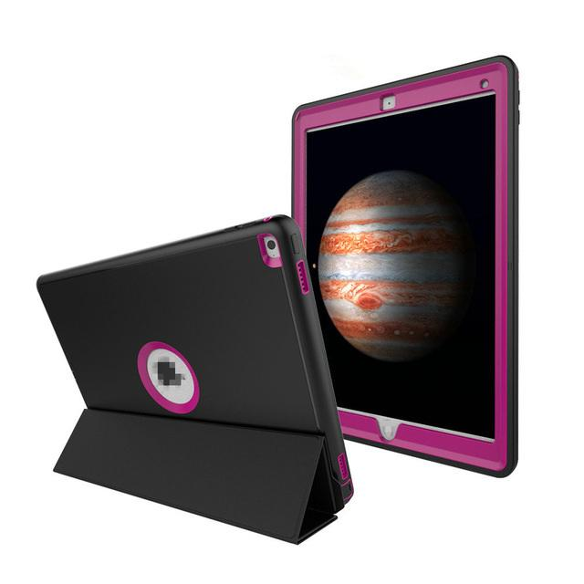 Novo Luxo Para Ipad Mini Da Apple 1 2 3 Tampa Armadura Defender Heavy Duty Robusto Três Camada Protetora Inteligente Case + Stylus + Film