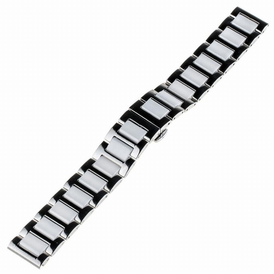 20Mm Cerâmica & Stainless Steel Watch Band Para Samsung Gear S2 Clássico R732 & Moto 360 2 R735 42Mm Strap Butterfly Clasp Pulseira