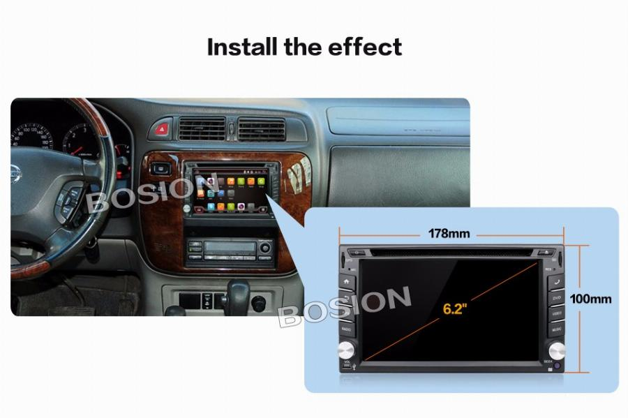 Universal 2 Din Android 4.4 Car Dvd Player Gps + Wifi + Bluetooth + Rádio + 1 Gb Cpu + Ddr3 + Capacitive Touch Screen + 3G + Pc + Áudio Do Carro