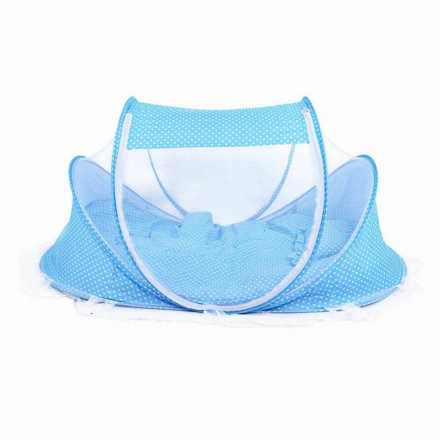 Version Baby Crib Travel Bed Portable Kids Bed Babies Sealed Mosquito Net Mattress Pillow Mesh Bag Music Accessory