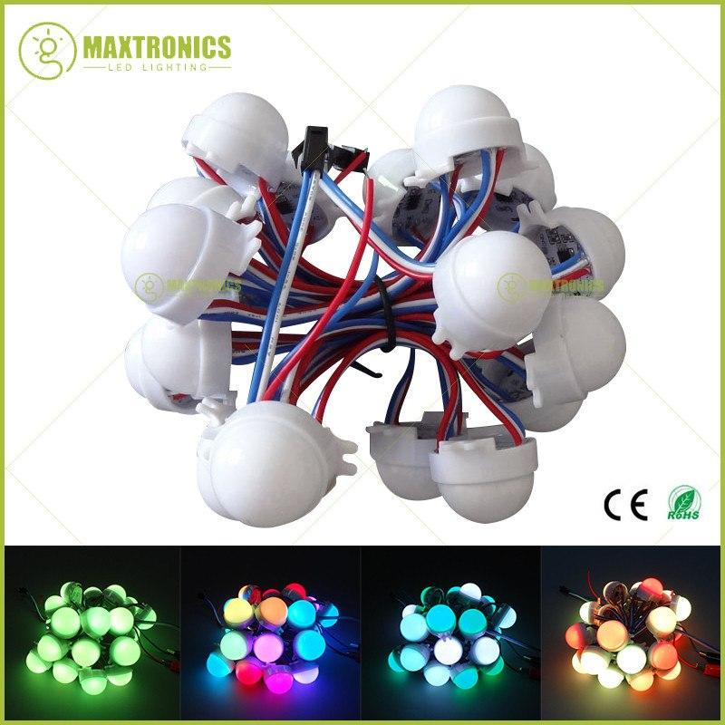 1000 Pcs Dc12V Ws2811 30Mm Difuso Led Pixel Módulo Full Color 3 Leds 5050 Rgb Led String Lâmpada D30 Módulos