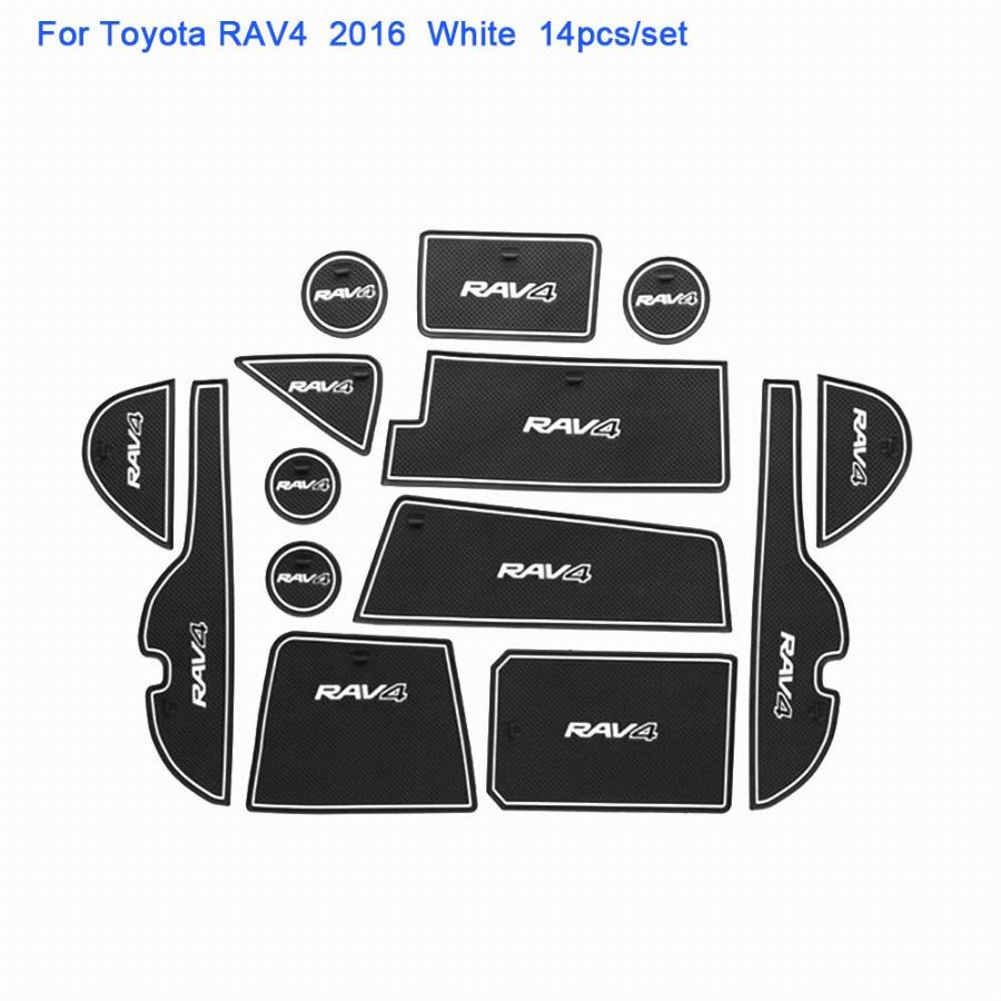 14 Pçs/set Para Toyota Rav4 2016-2017 Car Styling Pad Ranhura Porta Interior Do Sulco De Látex Mat Anti-Slip Coxim Do Carro Dedicado
