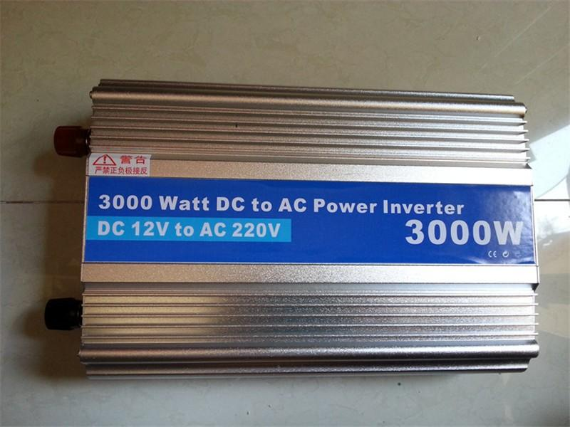 3000W-3, Modificado Sine Wave Power Inverter 3000 W Pico 6000 W Dc12V Para Ac 220 V Ac Dc Carro Potência Do Inversor, O Tamanho Do Corpo: 340Mm * 205Mm * 80Mm