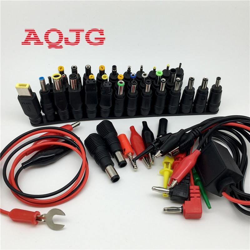 48 Pcs Adaptador De Alimentação Universal Laptop Ac Dc Power Jack Conector Plug Para Hp Ibm Dell Apple Lenovo Acer Toshiba Notebook Cabo