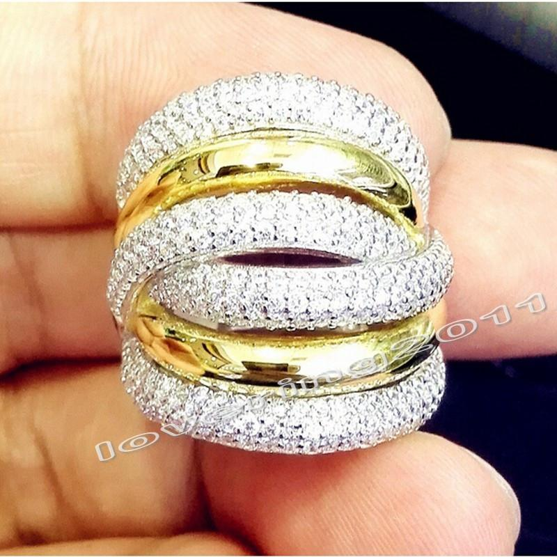 Choucong Eternidade 236 Pcs Pedra 5A Pedra Zircão 14Kt White & Yellow Gold Filled Mulheres Engagement Wedding Band Anel Sz 5-11