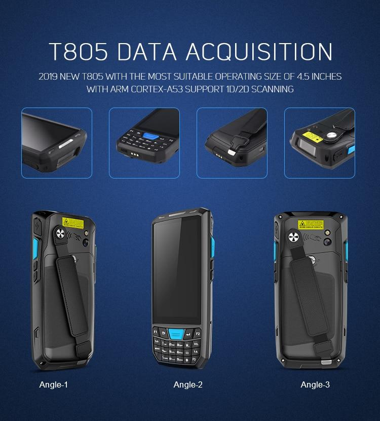 Dispositivo Robusto Android Handheld Barcode Scanner Com Leitor Rfid Rs232 Otg Inventário Pda