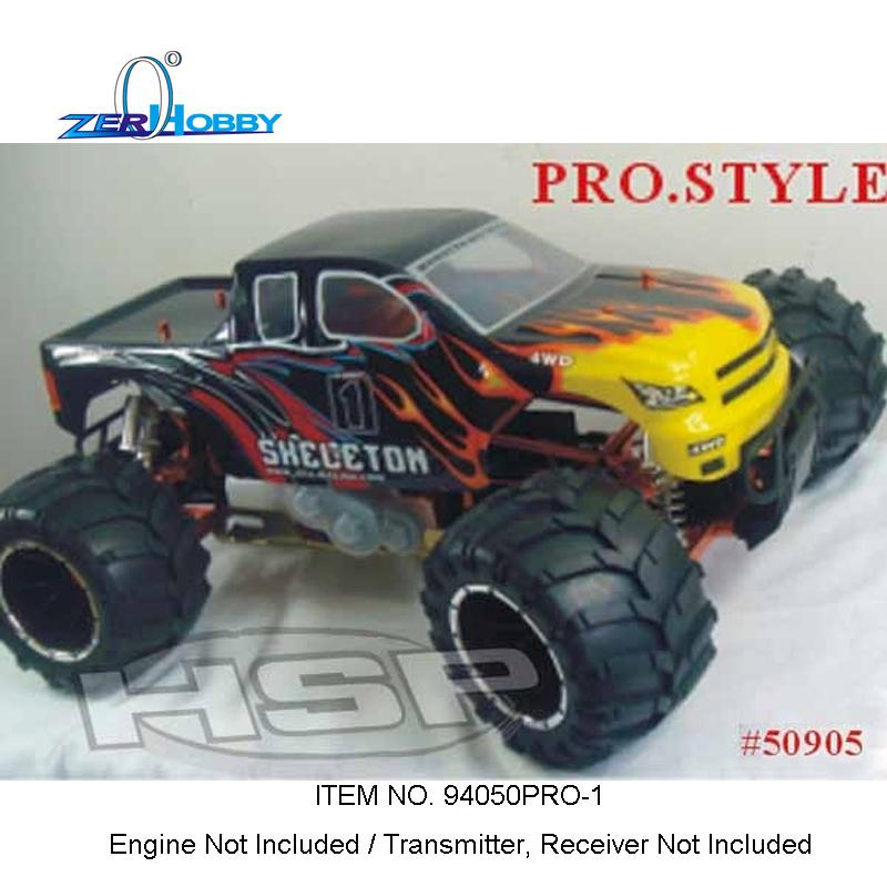 Hsp Rc Car Racing Esqueleto 94050Pro-1 Sem Motor Sem Tx Rx 1/5 Escala Gas Powered 4Wd Off Road Monster Truck