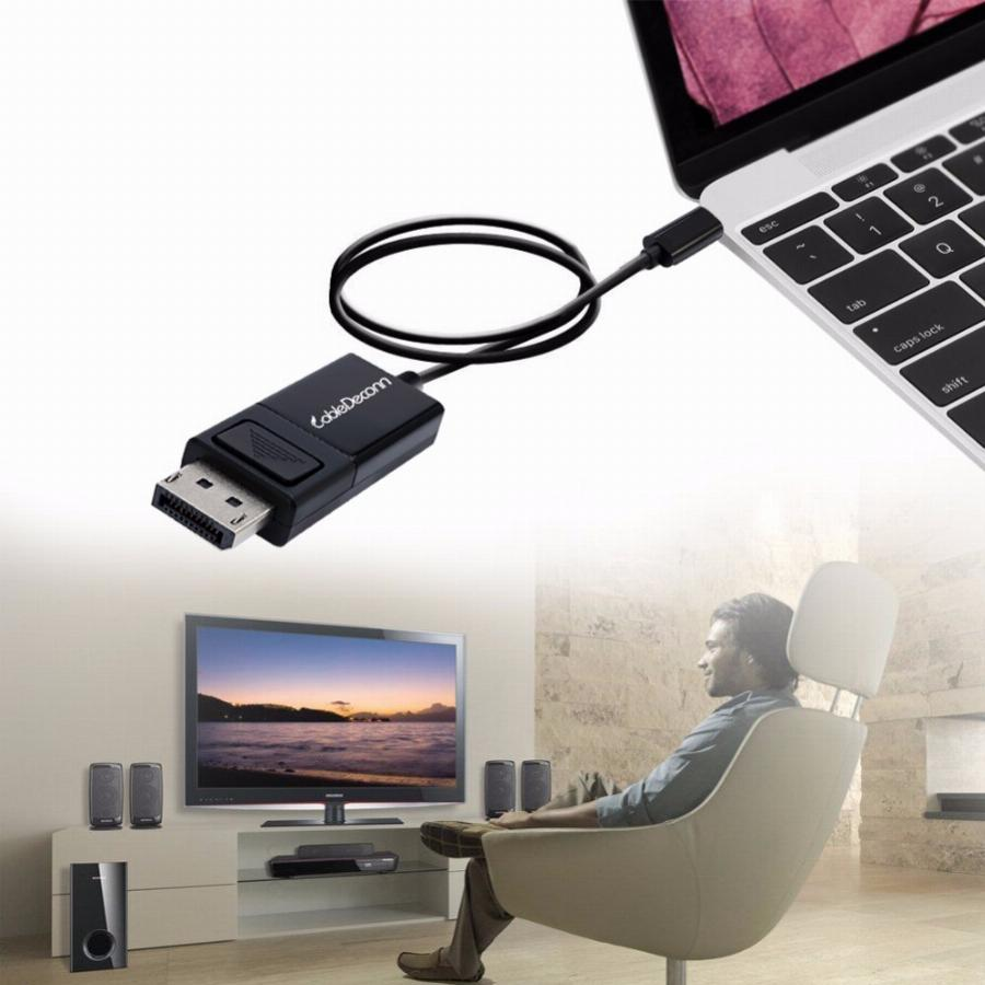 Thunderbolt 3 Para Display Port Usb C Para Cabo Displayport 4 K 60 Hz Hdtv Conversor Adaptador Para Novo Macbook Google Chromebook