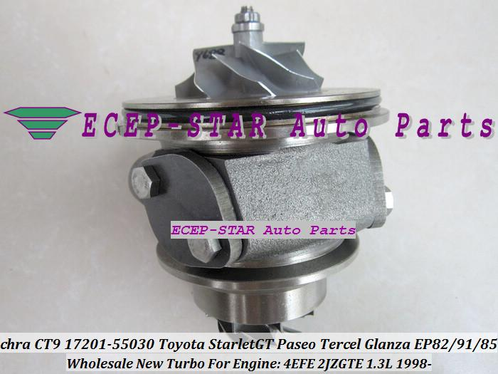 Turbo Cartucho Chr Ct9 17201-55030 17201-64190 Para Toyota Starlet Ep82 Ep91 Glanza Tercel Paseo Gt Ep85 1998-4Efe 2 2Jzgte 1.3L