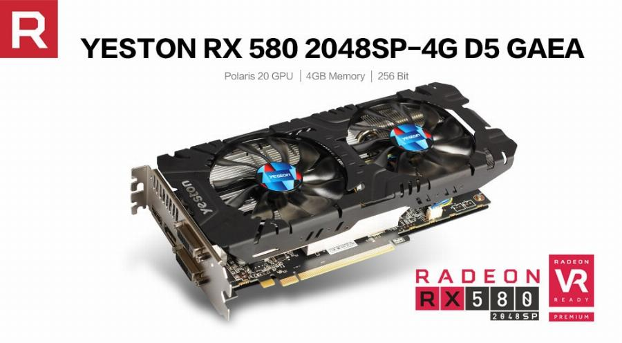 Yeston Rx 580 Gpu Radeon 4Gb Gddr5 Gaming Computador Desktop Pc Suporte A Placas De Vídeo Gráficos 256Bit Dvi/hdmi Pci-E X16 3.0