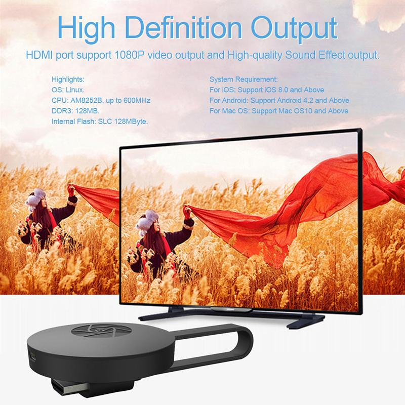 256 Mb Ezcast Airplay Hdmi Tv Vara Wifi Exibição Miracast Qualquer Elenco Receptor Dongle Para Ios Android Tv Vara Tv Pad 1080 P Dlna