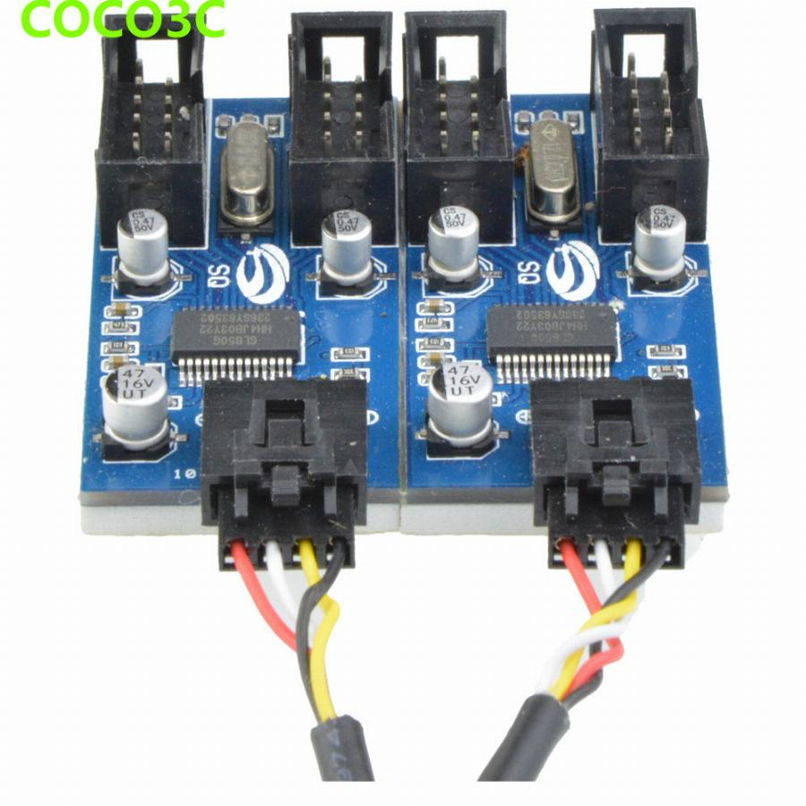 9Pin Header Para Quad 9 P Feminino Cabo De Extensão Usb Hub Cartão Desktop Motherboard 9-Pin 1 A 4 Port Multiplier Adaptador