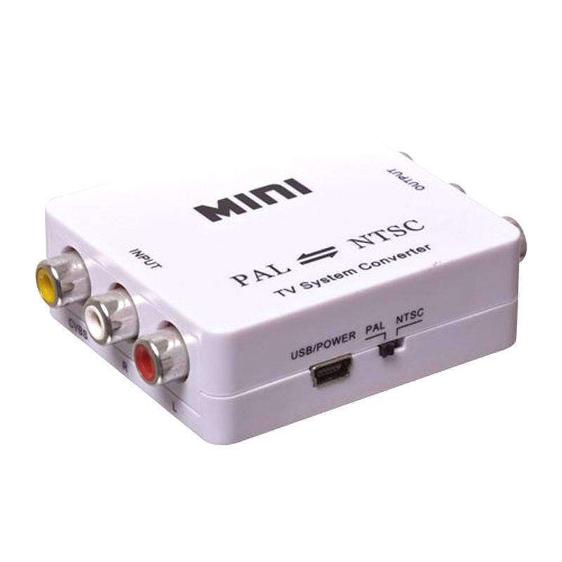 Brankbass Mini Hd Video Converter Pal/ntsc/secam Para Pal Ntsc Sistema De Tv Padrão De Sinal De Vídeo Conversor Adaptador