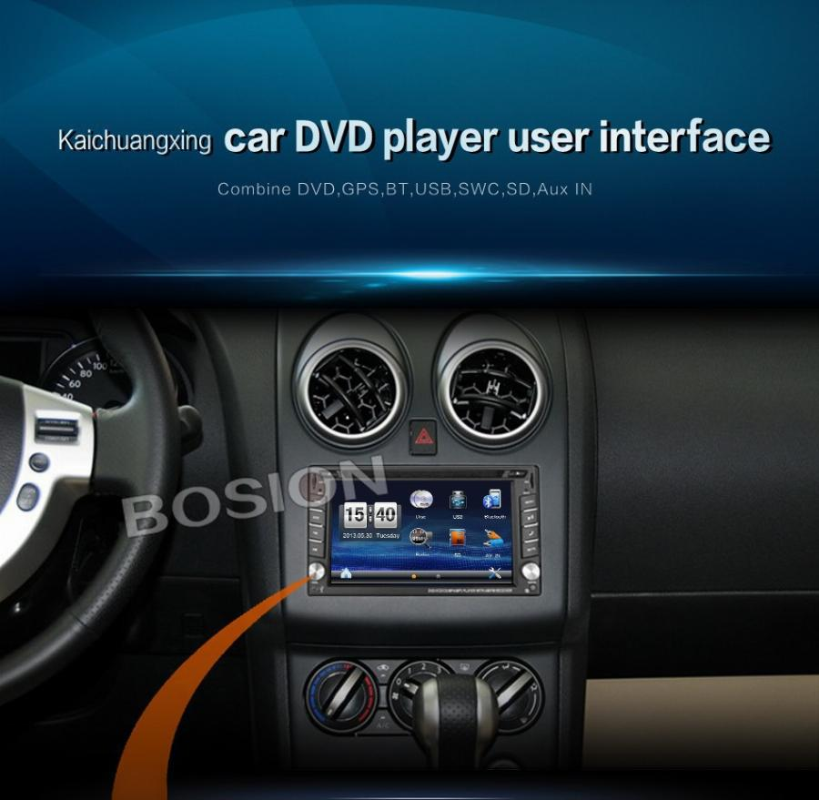 Car Dvd Player Gps Rádio Bluetooth 2 Din Universal Para X-Trail Juke Para Nissan Qashqai X Trail Rádio Estéreo Bluetooth Usb/sd