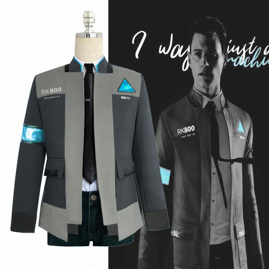 Detroit: torne-se humano rk800 connor cosplay traje completo outfit casaco jaqueta