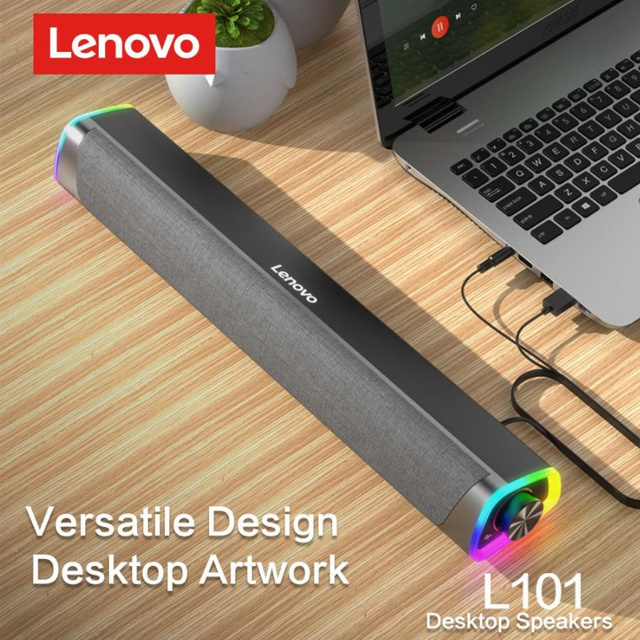 Lenovo l101 alto-falante do computador estéreo música surround subwoofer alto-falante para macbook portátil notebook pc player com fio alto-falante