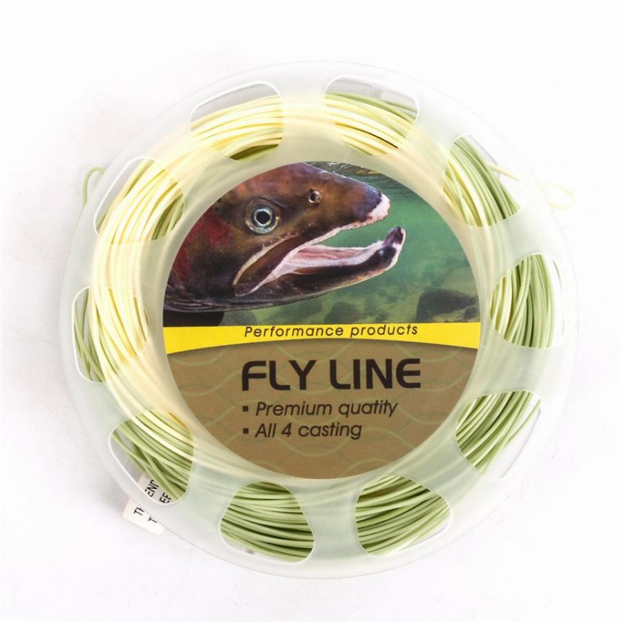 Maximumcatch Trout Fly Fishing Line Com Soldadas Loops 90Ft 4/5/6Wt Bege/sage Peso Para A Frente Flutuante Trout Fly Linha