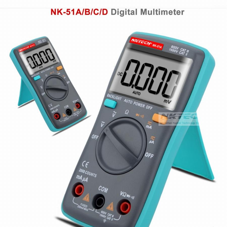 Nk51C Vs Rm101 Diagnóstico-Ferramenta Backlight Multímetro Digital 6000 Counts Ac/dc Ohm Amperímetro Multimetro Nk51A Nk51B Nk51D