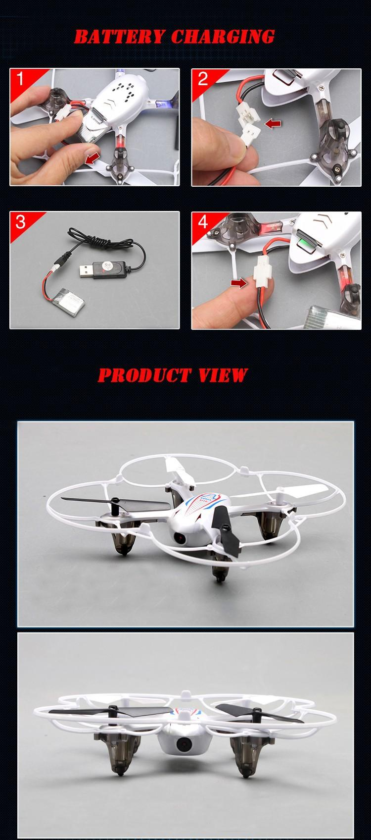 Syma X11C 2.4G 6 Axis Camera Hd Gyro Rc Quadcopter Rtf Rc Com Câmera 2.0Mp + 4G Mini Cartão Sd