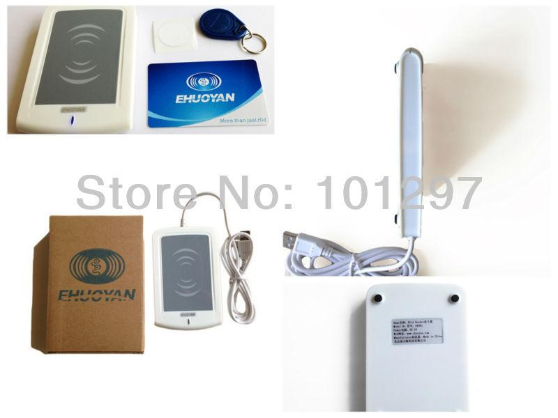 Tablet Android Telefone 13.56 Mhz Iso 14443A Rfid Reader/plug & Play Usb Er300D + 3 Tags