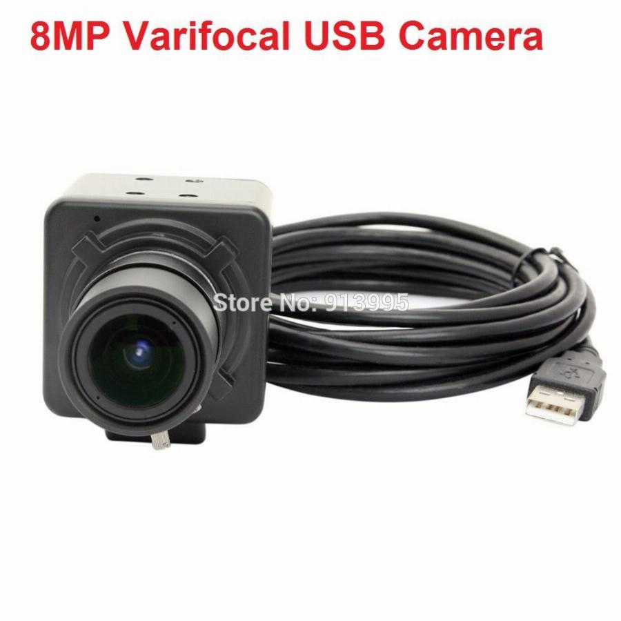 8 Megapixel Sony (1/3. 2 '') Imx179 Windows, Android, Linux Raspberry Pi Câmera 8Mp Cctv Varifocal 2.8-12Mm Lente Mini Câmera