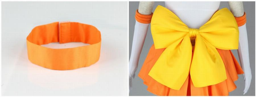 Athemis Anime Sailor Moon Minako Aino/sailor Venus Cosplay Custom Made Dress Alta Qualidade