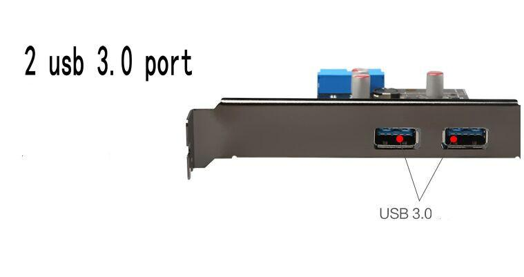 Diewu 2-Port Superspeed Usb 3.0 Pci-E Pci Express 19-Pin Usb3.0 Pcie Riser Card Motherboard 20 P 20 Pinos Conector Chipest Vl805
