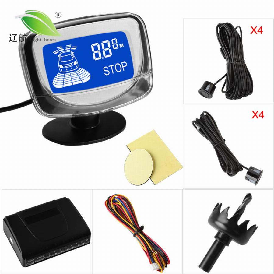 Lightheart À Prova D' Água 8 Front Rear View Carro Sensores De Estacionamento Sistema De Veículos Auto Reverso Kit Radar Backup Display Lcd Monitor