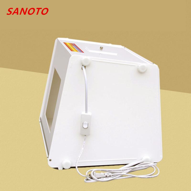 "Marca Sanoto 12 ""x 8"" Mini Portátil Profissional Photo Studio Soft Light Box Photo Light Box Softbox Mk30 Flash 110 V/220 V"