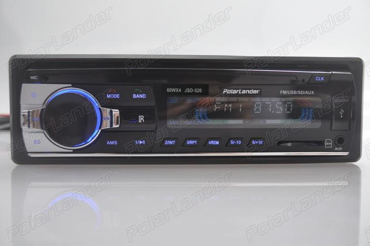 Europa Transporte Entrega Rápida Rádio Do Carro Do Bluetooth Do Carro Auto De Áudio Estéreo Jogador Do Bluetooth Telefone Aux-In Mp3 1 Din Fm Usb Remote12V