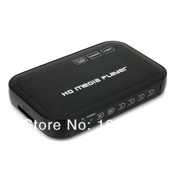 1080 P Mini Media Player Mkv/h.264/rmvb Full Hd Com Cartão De Acolhimento Leitor Vga Cvbs Hdmi Media Box Hd601