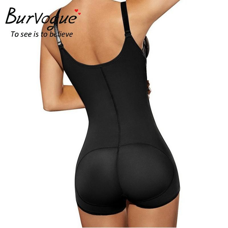 Burvogue Hot Shaper Slimming Trainer Cintura Tummy Controle Shapewear Underwear Bundas Lifter Zíper Látex Shaper Do Corpo Para Mulheres