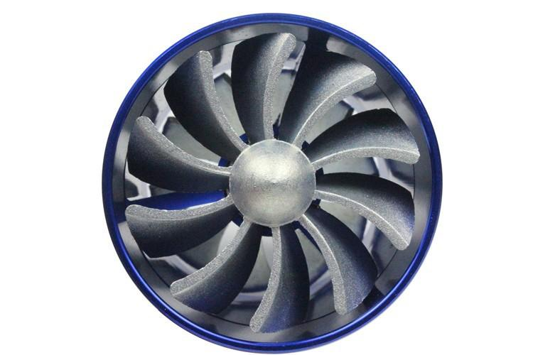 Duplo Turbo Intake Air Fuel Gas Saver Fan Turbo Supercharger Universal Turbine Turbo Entrada De Ar
