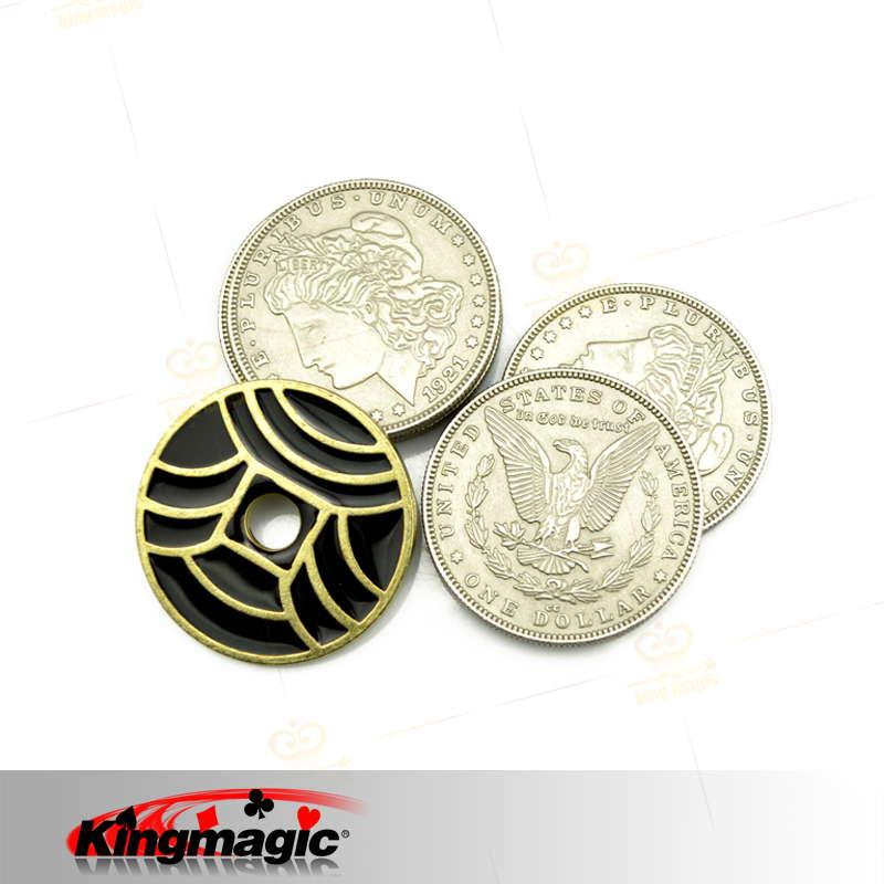 King Magic Sick Coin Magic Truques Close Up Magic Prop Frete Grátis