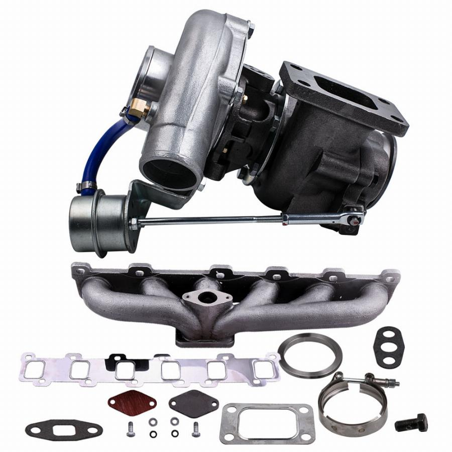 Kit Turbo Manifold Para Nissan Patrol Gu Gq Safari Td42 Tb42 T04E T3 T4. 63 A/r 44 Guarnição Turbocharger Compressor 400Hp Fase Iii