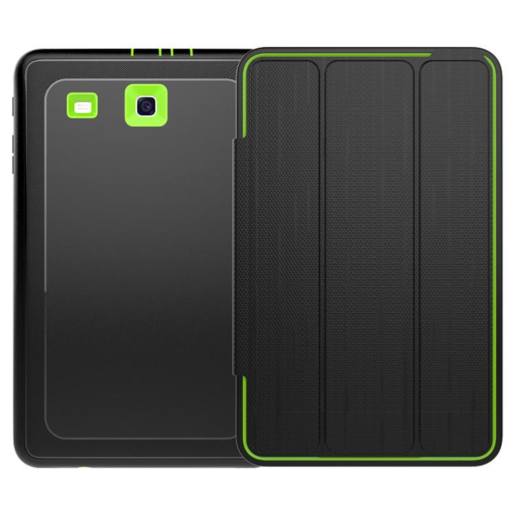 Para Sm-T560 Case Para Samsung Galaxy Tab 9.6 E T560 T561 Safe Kids Shockproof Heavy Duty Silicone Hard Cover Flip Book Folio